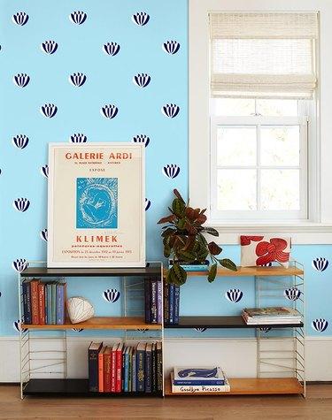 Clare V x Wallshoppe Lotus Wallpaper, $149