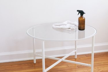 Cleaning coffee table