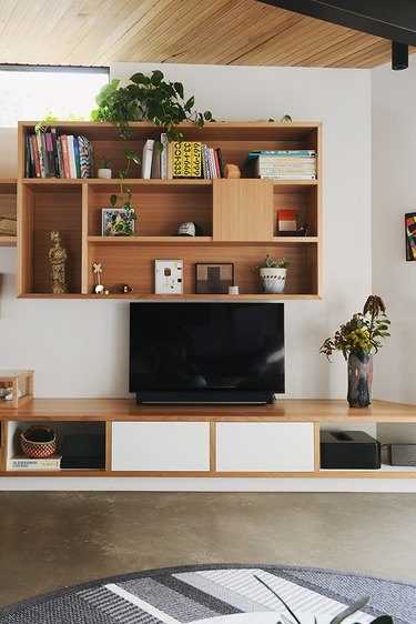 basement furniture with modular wall storage