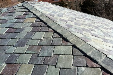 Slate roof detail.