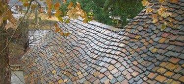 Colorful slate roof.