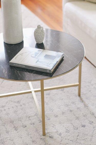 IKEA VITTSJO marble coffee table hack