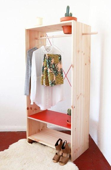 DIY planter closet