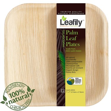Palm Leaf Plates, 22 Count