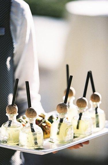 mini bottles of tequila