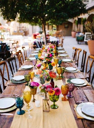 pretty floral tablescape