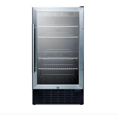 open glass fridge