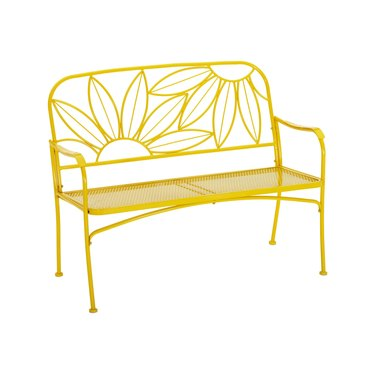 Mainstays Hello Sunny Outdoor Patio Bench