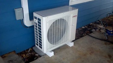 Ductless air conditioner compressor.
