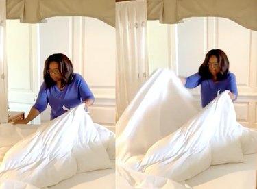 oprah changing duvet cover