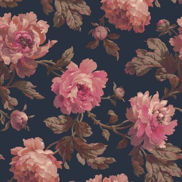 House of Hackney Peoneden wallpaper in midnight