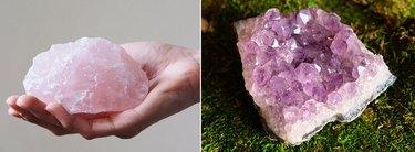 Rose Quartz and Amethyst