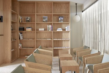The Calile Hotel room library