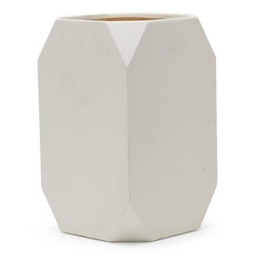 MoDRN Square White Ceramic Planter