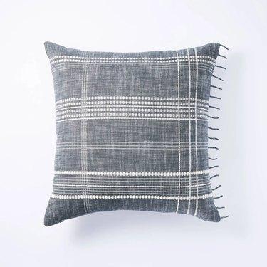 striped plaid pillow