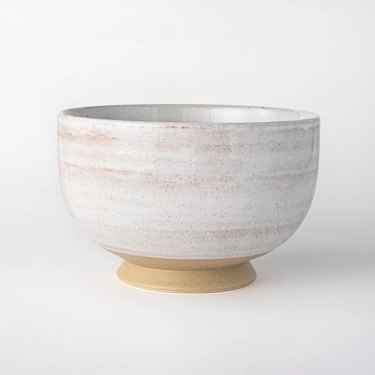 stoneware bowl in light color