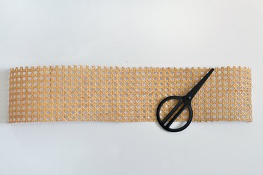 Cane webbing and scissors
