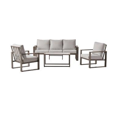 Better Homes & Gardens Belle Haven 4-Piece Conversation Outdoor Furniture Set, Metal