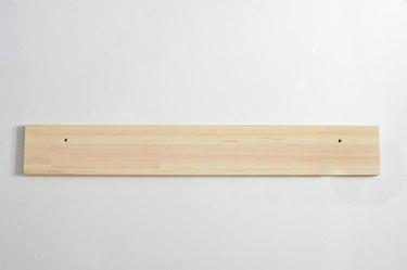 Plain wooden shelf