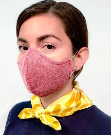 person wearing mask and yellow scarf