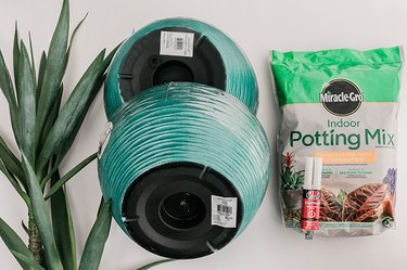 Here's what you'll need to make your DIY Midcentury Mod Planter Pot.