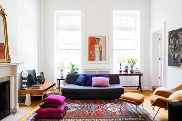 eclectic boho living room