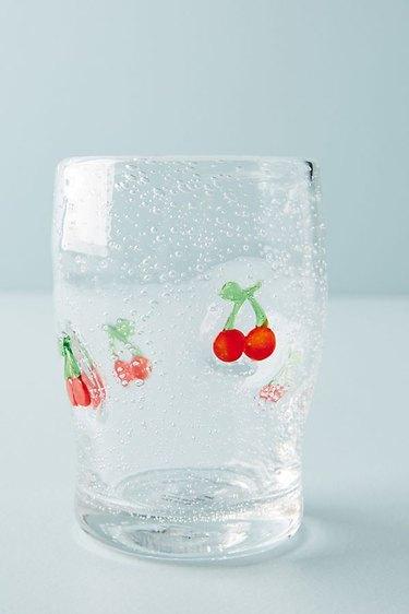 anthropologie cherry juice glasses