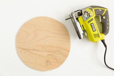 IKEA Hack coffee table with Alseda stool