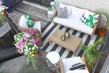 DIY playbook balcony makeover