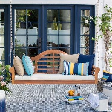 Belham Living Kimbro Lutyens Outdoor Porch Swing with Cushion, $419.99