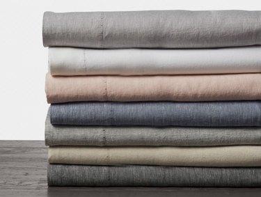 Organic Linen Chambray Sheets by Coyuchi