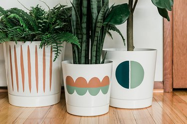 Take a white planter from 'plain' to 'Pinterest-worthy' using paint!