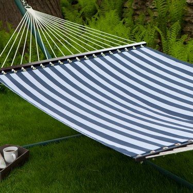Coral Coast 13 ft. Quick Dry Poolside Navy Stripes Hammock, $229.99
