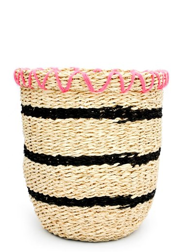 yarn embroidered basket
