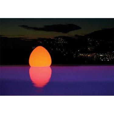 Floating egg-shaped LED light