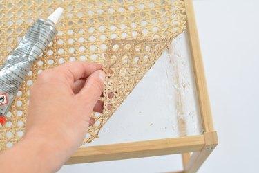 Cane Nesna Bedside Table IKEA hack