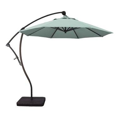 Mint green outdoor umbrella