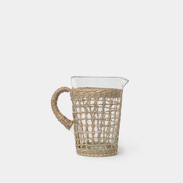 Amber Interiors Seagrass Pitcher, $35