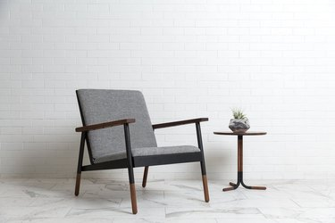 lounge chair and side table