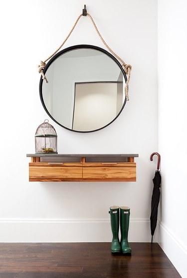 floating console table