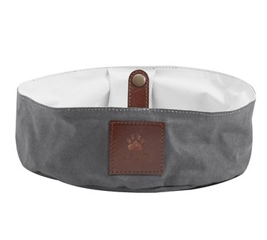 travel dog bowl in gray color