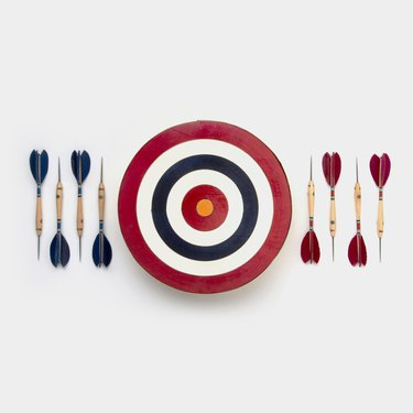 The dart set against a white background
