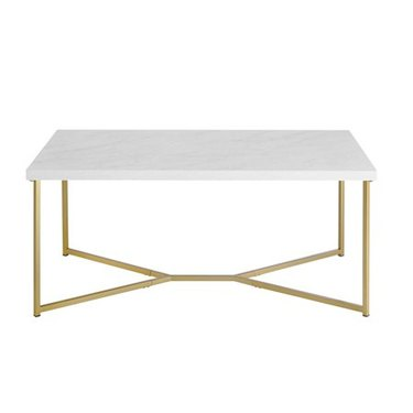 coffee table with faux marble top