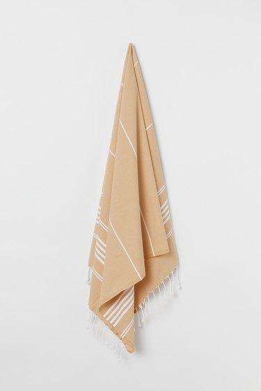 beige beach towel