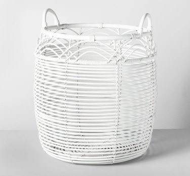 Opalhouse White Rattan Basket, $27.99
