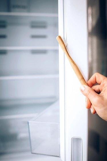 Clean door seals on fridge