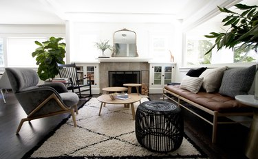 bohemian neutral living room