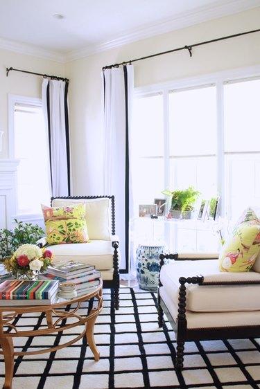 feminine beige living room idea by maggie stephens