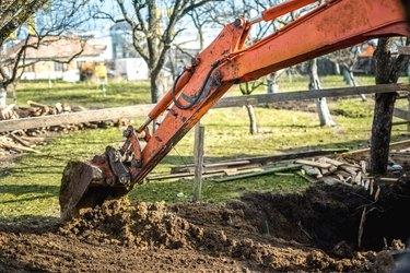 Lawn excavation.