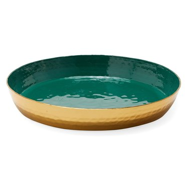 modrn green decorative tray